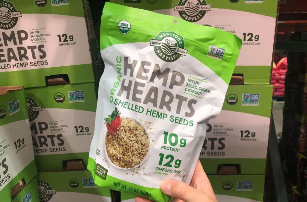 bag of manitoba harvest organic hemp hearts at costco