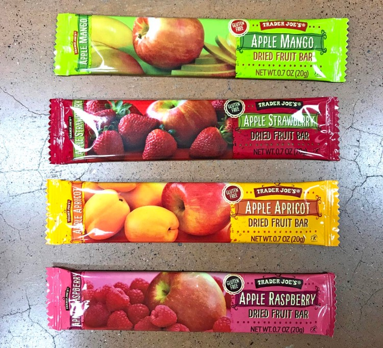 trader joe's paleo snack four dried fruit bars