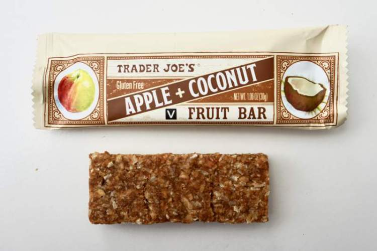 Paleo Snacks at Trader Joe's Apple+Coconut Fruit Bar
