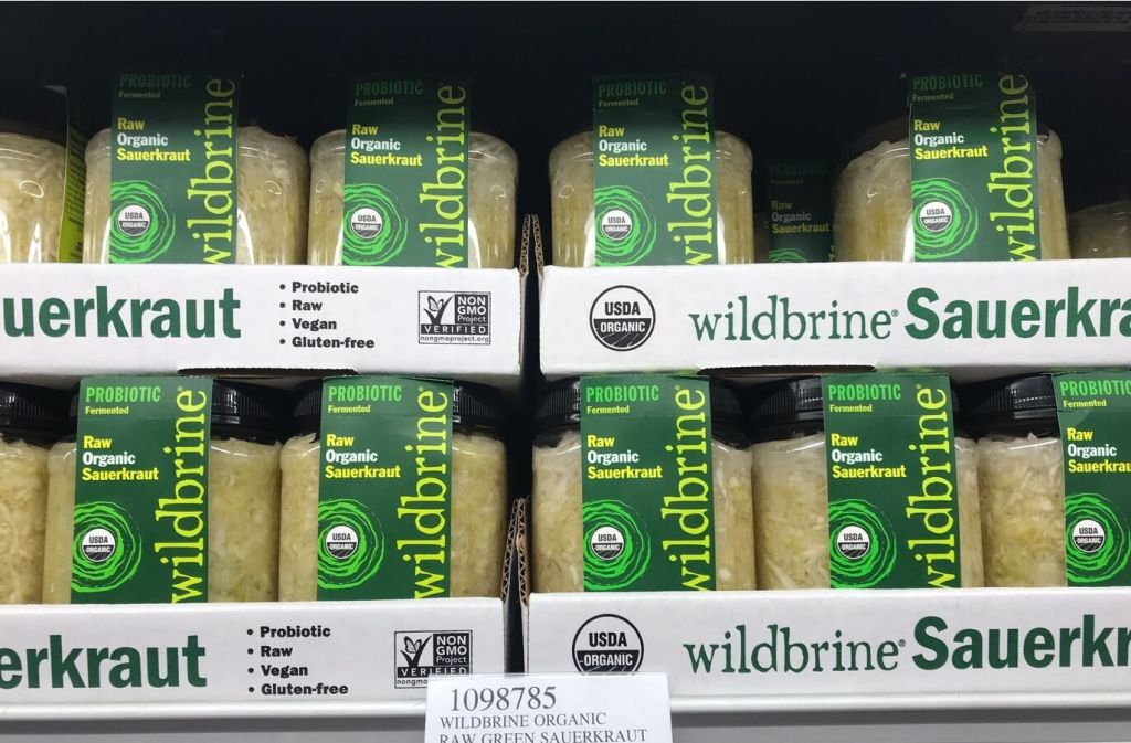 jars of wildbrine sauerkraut original at costco