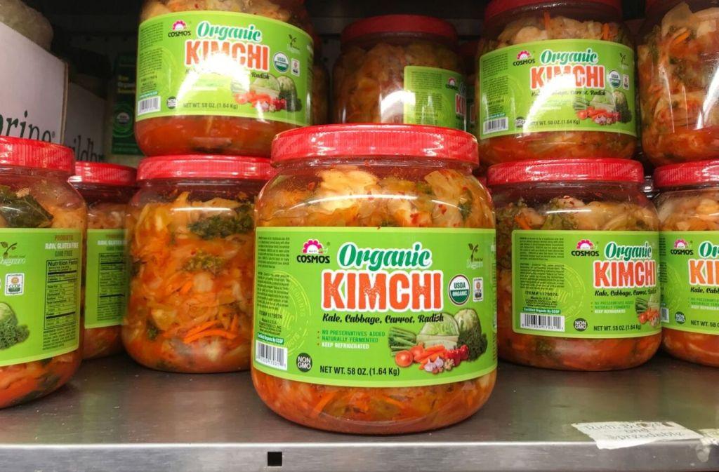 jar of organic kimchi at costco