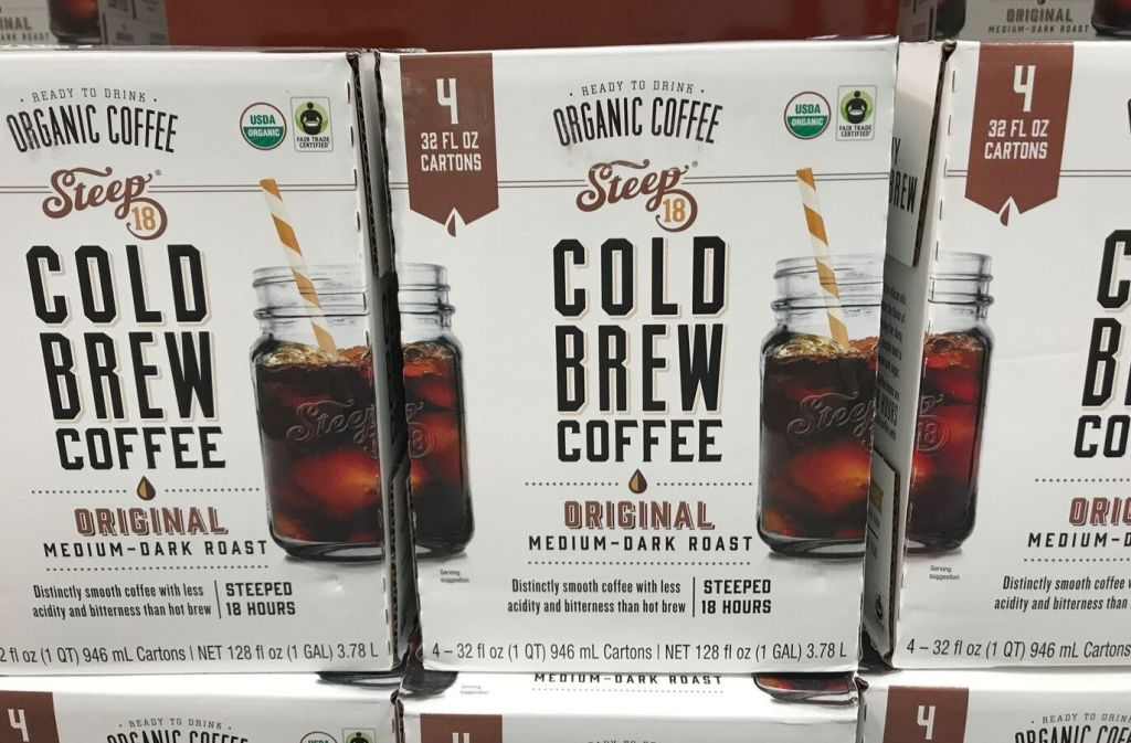 box of steep 18 cold brew coffee at costco