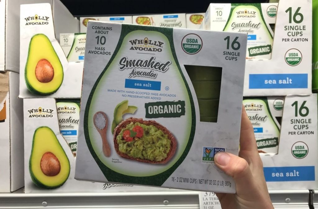 box of wholly avocado smashed avocado containers