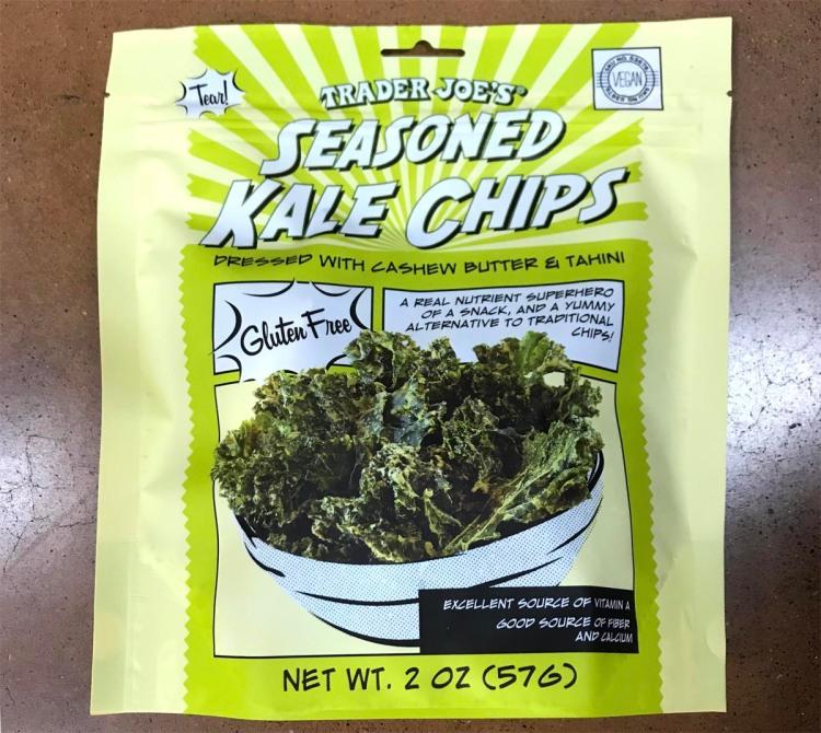 trader joe's paleo snack bag of seasoned kale chips