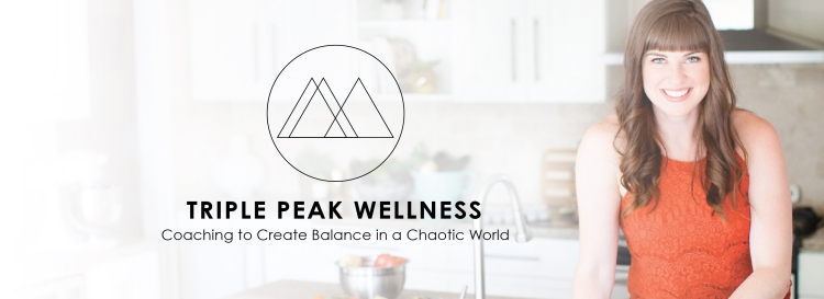 triple peak wellness logo next to ellen jaworski holistic health coach
